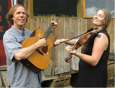 Audacious - Larry Unger with guitar, and Audrey Knuth with fiddle